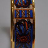 Authentic Hermes 039rubans De Cheval 039Enamel Bangle Gold Size 65