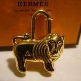 Authentic Hermes 1997 Lion Cadena Lock Charm