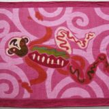 Authentic Hermes Beach Towel Juggler Cyclamen Rose