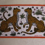 Authentic Hermes Beach Towel Leopards White