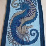 Authentic Hermes Beach Towel Seahorse Blue