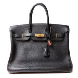 Authentic Hermes Black Togo Leather 35 Cm Birkin Bag