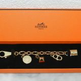 Authentic Hermes Breloque Charm Bracelet In Gold Tone Hw