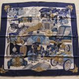 Authentic Hermes Carre Automobile By Joachim Metz Silk Scarf