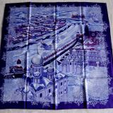 Authentic Hermes Carre De Passage A Moscou Silk Scarf
