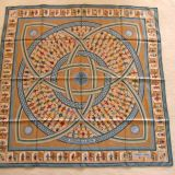 large faux hermes scarf