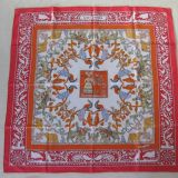 Authentic Hermes Carre Early America Silk Scarf