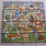 Authentic Hermes Carre Fairytales By Hermes Silk Scarf