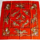 Authentic Hermes Carre Guepards Silk Scarf