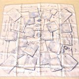 Authentic Hermes Carre Instructions Sur L Art Silk Scarf