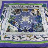 Authentic Hermes Carre La Vie Du Grand Nord Silk Scarf