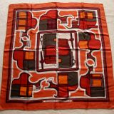 Authentic Hermes Carre Les Coupes Silk Scarf