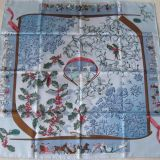 Authentic Hermes Carre Neige D Antan Silk Scarf
