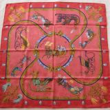 Authentic Hermes Carre Plumes Et Grelots Silk Scarf