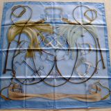Authentic Hermes Carre Projets Carres Silk Scarf