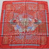 Authentic Hermes Carre Rencontre Oceane Silk Scarf