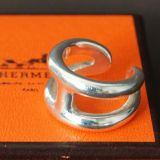 Authentic Hermes Chaine Dancre osmose Ring Size 52 Us6 Silver 925