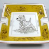 Authentic Hermes Chien Porcelain Ashtray st Highland Terrier