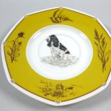 Authentic Hermes Chien Porcelain Dinnerware Saucer Cocker Spaniel