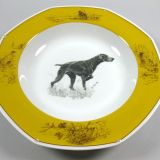 Authentic Hermes Chien Porcelain Dinnerware Soup Plate Allemand