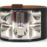 Authentic Hermes Collier De Chien Noir Swift Bracelet New