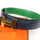 Authentic Hermes Constance Goldtone H Buckle Belt Sz 65