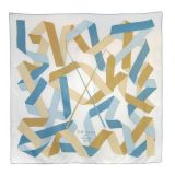 Authentic Hermes En Duo Multicolor Ribbons Silk Scarf 35 quotBox