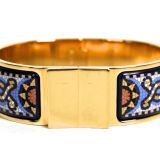 Authentic Hermes Enamel Blue Mosaic Bracelet