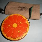 Authentic Hermes Fruit Coin Orange Slice Purse Highly Collectible