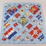 Authentic Hermes Gavroche Pavois Silk Scarf