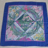 Authentic Hermes Giverny Silk Scarf