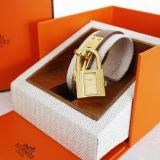 Authentic Hermes Gold Courchevel Kelly Watch In Box