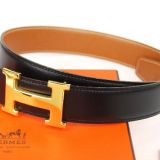 Authentic Hermes Goldtone H Buckle Belt 68 Reversible Leather