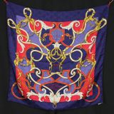 Authentic Hermes Jacquard Silk Scarf Linstrvction Dv Roy