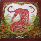 Authentic Hermes Jungle Love Cashmere Silk Stole