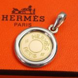 Authentic Hermes K18 Gold X Sterling Silver Pendant Top Charm