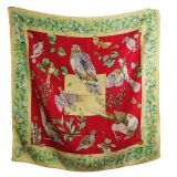 Authentic Hermes La Vie Au Grand Air Silk Scarf