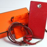 Authentic Hermes Leather Mobile Phone Cigarette Case Holder Strap