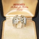 Authentic Hermes Mexico GM Ring Size 53 Us 6 Sterling Silver 925
