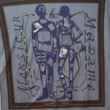 Authentic Hermes Monsieur Et Madame T Shirt Scarf