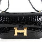 Authentic Hermes Niloticus Crocodile Constance Elan 25 Cm Bag New