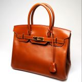 Authentic Hermes Noisette Box Calf Birkin 30cm