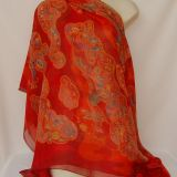 Authentic Hermes Nuees Imaginaires Mousseline GM Shawl