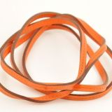 Authentic Hermes Orange Leather String Strap H152