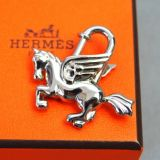 Authentic Hermes Pegasus Silvertone Cadena Lock Charm 1993 W Box