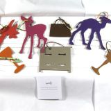 Authentic Hermes Petit H Clemence Leather Window Decoration Set