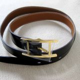 Authentic Hermes Quentin Black Box and Togo Leather Belt Sz 110