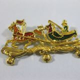 Authentic Hermes Rare Carriage Brooch
