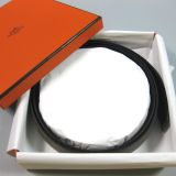 Authentic Hermes Reversable Black Etoupe Box Togo Leather Belt