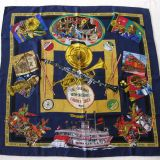 Authentic Hermes Scarf Creole Jazz Silk Carre